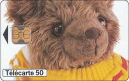 France Chip Phonecard Teddybär - Telefoonkaarten