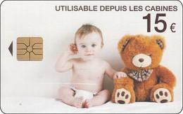 France Chip Phonecard Teddybär And Baby - Telefoonkaarten
