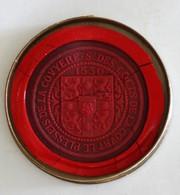 Cachet Cire Le Plesseis De La Couyère S. Des Cocts De La Court Plessis Armoiries Blason Sceau - Seals