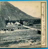 Suisse Valais Martigny * Vernayaz Et Cascade De Pissevache - Photo Stéréo Charnaux Vers 1870 - Voir Scans - Stereo-Photographie