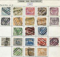 18191 BELGIQUE Collection Vendue Par Page Colis-postaux N° 58/78 °   1916  B/TB - Belgium