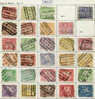 18192 BELGIQUE Collection Vendue Par Page Colis-postaux N° 100/27 °sauf 102a, 108    1920  B/TB - Belgium