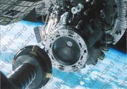 "[2017, Space, Astronauts, Salute] Postal Card ""[Orbital Station ""Salyut-6""]"". - Russia"