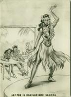 1950s HUMOR  PIN UP - SAILOR / DANCERS - EDIZ. BROMOSTAMPA (1427) - Humour