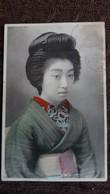 CPA JAPON JAPONAISE STYLE GEISHA 1914 ECRITE A TLINTSIN ? MANQUE TIMBRE - Japan