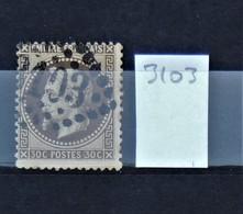 05 - 20 // France N° 30  - Oblitération GC 3103 - Reims - Marne - 1863-1870 Napoléon III Lauré