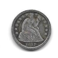 Etats Unis. 1 Dime Argent 1857 (1271) - Federal Issues