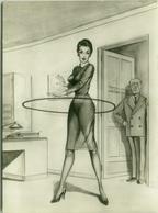 1950s HUMOR  PIN UP - HULA HOOP - EDIZ. BROMOSTAMPA (1429) - Humour