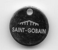 Jeton De Caddie  Ville, SAINT - GOBAIN  Verso  VERRERIES  DE  L' ORNE  61150  ECOUCHE  ISO  9002 - Trolley Token/Shopping Trolley Chip