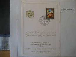 Liechtenstein- Glückwunschkarte Mit Mi.Nr. 619 - Ungebraucht