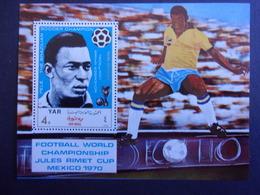 YEMEN JEMEN YAR MI-NR BLOC 124 MNH/NEUF** FOOTBALL MEXICO 1970 PELE - Copa Mundial