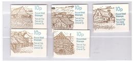GREAT BRITAIN 1978-79: FARM BUILDINGS BOOKLETS. FA 5-FA 9. MNH** - Carné