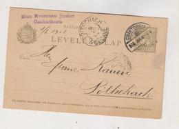 CROATIA HUNGARY 1906 Cakovec Csaktornya Max Neumann Junior Postal Stationery - Croatia