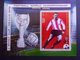 YEMEN JEMEN YAR MI-NR BLOC 125A MNH/NEUF** FOOTBALL MEXICO 1970 BECKENBAUER - Copa Mundial