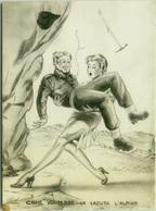 1950s HUMOR  PIN UP - CADUTA DELL'ALPINO - EDIZ. BROMOSTAMPA (1431) - Humour