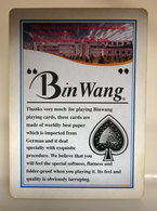 BIN WANG CARTA DA GIOCO - Playing Cards (classic)