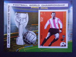 YEMEN JEMEN YAR MI-NR BLOC 125B MNH/NEUF** FOOTBALL MEXICO 1970 BECKENBAUER - Yemen
