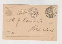 CROATIA HUNGARY 1905 Cakovec Csaktornya Max Neumann Junior Postal Stationery - Croatia