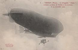 "CPA:DIRIGEABLE ""PATRIE"" AU-DESSUS DE VERDUN (55) NOVEMBRE 1907...ÉCRITE - Dirigibili"
