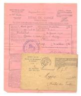 Armée Belge  - Avis D'incorporation Au Ier Rgt De Lanciers à Liège Et Titre De Congé De 2 Jours -1926 - Baelen (NOD4 - Dokumente