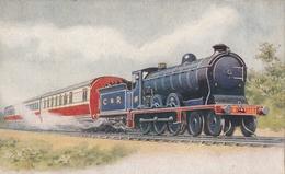 Locomotive .C.R. Et Train - Trains