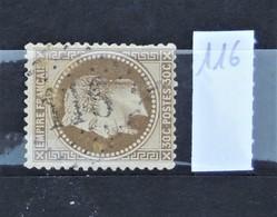 05 - 20 // France N° 30  - Oblitération GC 116 - Anse - Rhône - 1863-1870 Napoléon III Lauré