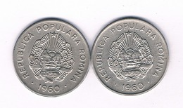 25 BANI 1960 X2 ST ROEMENIE /4167/ - Roemenië