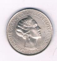5 FRANC  1962 LUXEMBURG /4168/ - Roemenië