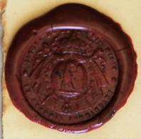 Cachet Cire Militaria Aigle Couronne Le Général Commandant Le 8e .... Armoiries Blason Sceau - Seals
