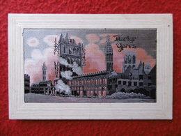 CARTE BRODEE SOIE MARTYR YPRES - Belgium