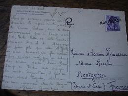 Montgeron Griffe Marque Lineaire Obliteration De Fortune Sur Lettre - 1921-1960: Modern Period