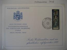 Liechtenstein- FDC Glückwunschkarte Mi.Nr. 721 - Briefe U. Dokumente