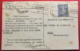 Carte Le Zerga Chocolat- Perforé M.D.G.- Ancoper M.D.G. 44 - France