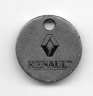 Jeton De Caddie  Automobiles  RENAULT  Verso  La  Différence  ( écrit  En  Vert ) - Trolley Token/Shopping Trolley Chip