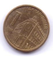 SERBIA 2011: 1 Dinar, Magnetic, KM 54 - Serbia