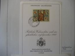Liechtenstein- FDC Glückwunschkarte Mit Mi.Nr. 739 - Briefe U. Dokumente