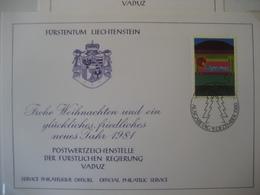 Liechtenstein- FDC Glückwunschkarte Mit Mi.Nr. 762 - Briefe U. Dokumente