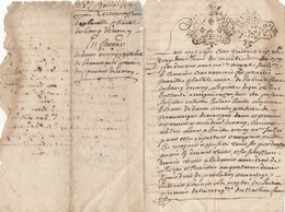 VIEUX PAPIER - GENERALITE MONTPELLIER - 1733 - Seals Of Generality