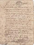VIEUX PAPIER - GENERALITE MONTPELLIER - 1738 - VENTE - Seals Of Generality