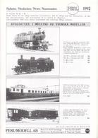 Catalogue PERL MODELL AB 1992 HO Neuheiten Svenska Schweitzer - En Suédois, Allemand, Anglais Et Français - Boeken En Tijdschriften