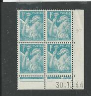 Paire De Coin Daté Iris N° 650 **  Du 30 10 1944 Planche A Et B - 1940-1949