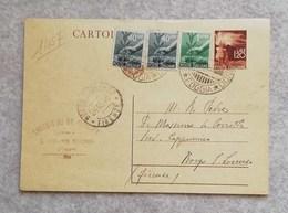 Cartolina Postale 01/1945 Da L.1,20 Da San Giovanni Rotondo Per Borgo S. Lorenzo 20/10/1946 Con Affrancatura Aggiuntiva - Marcophilia