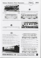 Catalogue PERL MODELL AB 1993 Neuheiten Messingbausätze - En Suédois, Allemand, Anglais Et Français - Boeken En Tijdschriften