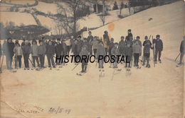 ZELL Am SEE AUSTRIA ~ LARGE GROUP OF YOUNG PEOPLE SKIING~1909 LEOPOLD HAIDINGER REAL PHOTO POSTCARD 46528 - Winter Sports