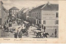 Jodoigne , Marché Aux Vaches ,(Pub : Fabrique De Tabac Cigare H.Denis - Delfosse )+ Vache Bovin Boeuf - Jodoigne