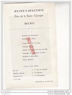 Au Plus Rapide Menu Reine Cavalerie Saint Georges Allemagne Wittlich 19 Avril 1959 4 ème Cuirassiers ? - Documenten