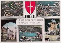 TRIESTE-5 IMMAGINI-CARTOLINA VIAGGIATA IL 3-4-1953 - Trieste