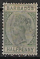 1882-6 Barbados Victoria 1v. - Barbados (1966-...)