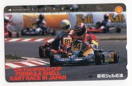 JAPON TELECARTE KARTING FIA WORLD CUP FORMULA SHELL KART RACE - Sport
