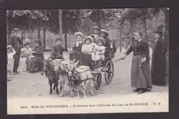 CPA Voiture à Chèvres Attelage Vincennes Circulé - Chiens